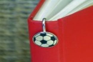 FOOTBALL stainless steel Bookmark fits down spine of book